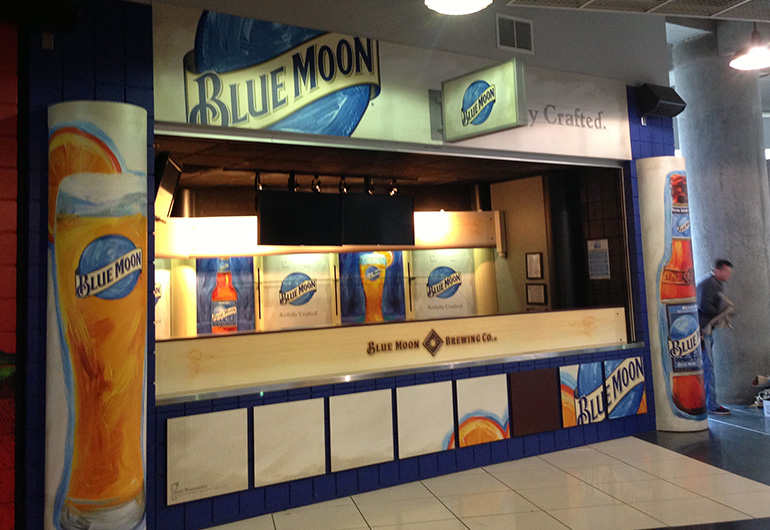 Phillips Arena Blue Moon